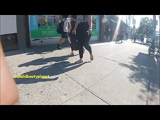Ass fuck twins Amazing twin latina candid phat booties in see-thru leggings