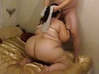 Tied up bound fuck - Fat wife sucks fucks with tied up tits