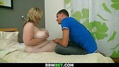 Burglar fucks a hot big belly fatty
