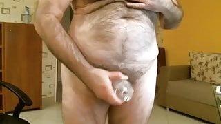Old man cums on cam 25