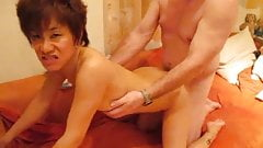 Asian cuckold with white guy
