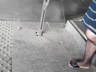 Nylon feet mature granny pantyhose Nylon granny legs and feet slow motion
