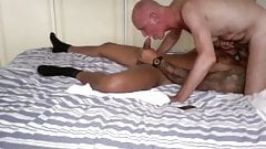 Hot old guy and really fit younger lad suck and fuck