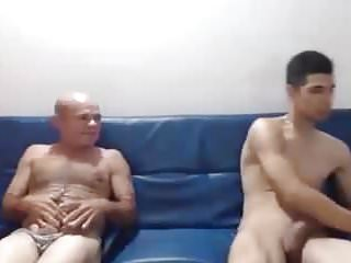 Father and son nudists - Father and son fucking a girl