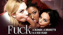 Fuck a Blonde, a Brunette & a Red Head!