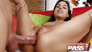 Dildo Fucking Amateur Trinity Gets A Real Cock, Too