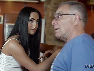 Daddys fucking the son Daddy4k. daddy invites son and his gf to the bar and fucks