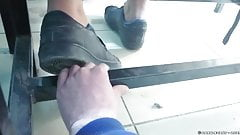 Hard trampling with sneakers, hand crush, CHT 95