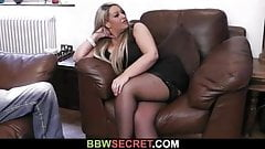 His wife leaves and he cheats with bbw