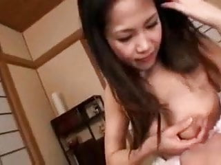 Japanese mom hand job Aya nakano-hand job breastmilk healing by tom
