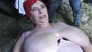 Big Grandma on the farm
