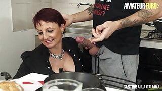 AMATEUREURO Barbara Gandalf Chubby Mature Hard Anal Casting