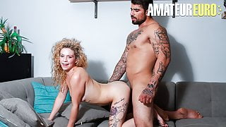 AmateurEuro - Hot Newbie Babe Sex On Casting With Ryan Bones