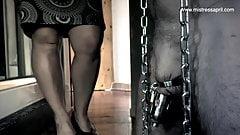 Dominatrix Mistress April - Slave Locked up