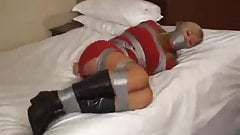 Duct Taped in Boots Bondage