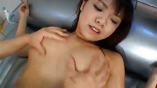 Japanese AV Model gives man massage and fucks
