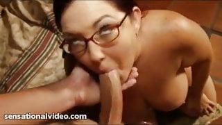 Big Tit Redhead BBW Sucks and Swallows Huge Cock