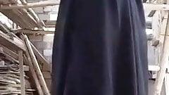 Hijabi girl showing boobs