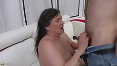Granny well skilled and fucks better than any younger slut