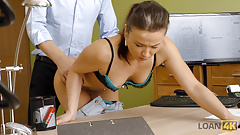 VIP4K. Poor executive assistant sells pussy to pay