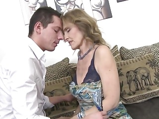 Dirty old milf - Hot mature sex with dirty mom and son