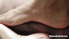 Size 11 Ebony Bare Nails Toejob on BBC