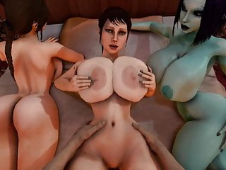 Free lara croft porn Trishka gets fucked while soria and lara croft watch 3d