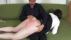 Wife disciplined and spanked