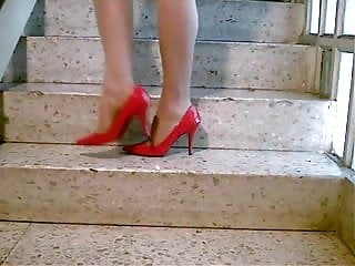 Sexy stilettos in catfights Tan pantyhose sexy stiletto high heels fuck me pumps stairs