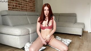 Amateur wife KleoModel – solo pussy play and juicy orgasm