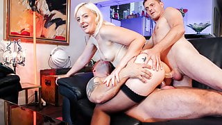 LA COCHONNE - Sexy French Wife Gets DP From Her Men #Candys