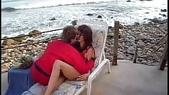 Hot lifeguard gets her large tits licked on the beach thn gets banged