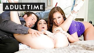 Sister-In-Law Gets her First Orgasm and Squirts EVERYWHERE!