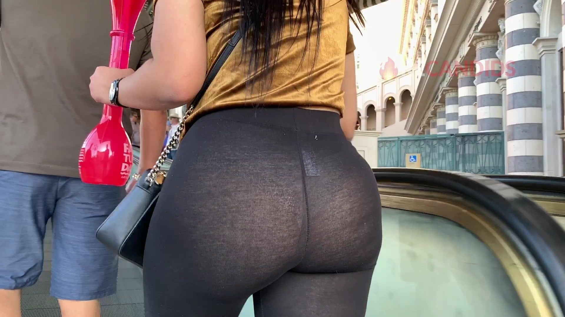 Public See Through Spandex