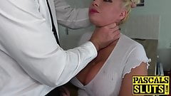 UK mature babe Michelle Thorne used roughly by her master