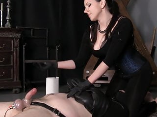 Femdom pedestal Edging leads to one of the biggest cumshots ever