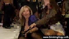 Office ladies enjoying an orgy