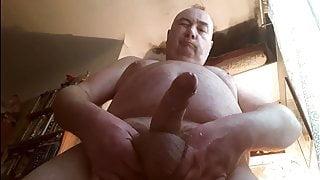 French chubby daddy big uncut cock cum