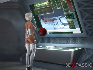 Young porn 3d Sci-fi. 3d hot dickgirl fucks young girl in space station