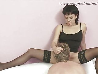 Hard cock sex - Coupledomination - sex slave gets hard cock and huge strapon