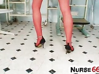 Obgyn tgp - Adele sunshine stockings legs open wide on obgyn-chair