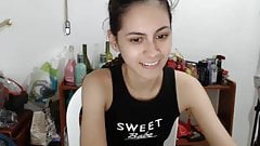 shy small-breasted latin cam-slut