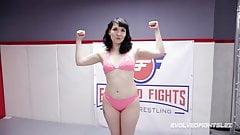 Alexa Nova vs Luna Sapphire in hot lesbian wrestling fight