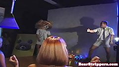 Blonde babe pussy fucked by stripper
