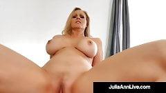 Horny Mommy Julia Ann Rides & Milks Her Step Son's Cock!