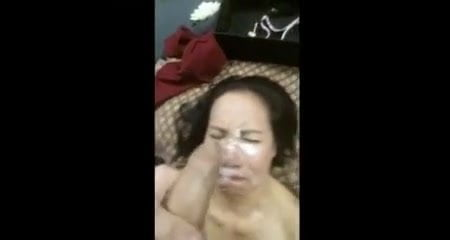 jizz bucket asian whore takes full load