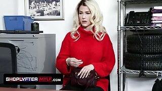 Gorgeous Milf Kit Mercer Caught Hiding Items Under Sweater