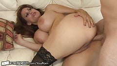Nasty Mother in law surrenders her asshole