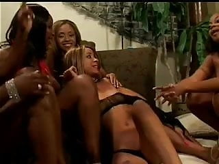 The sex of kittens - Kitten invites her black gals over for a lesbian orgy