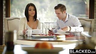 BLACKED - Brunette Ariana Chechik Takes Trio of BBCs